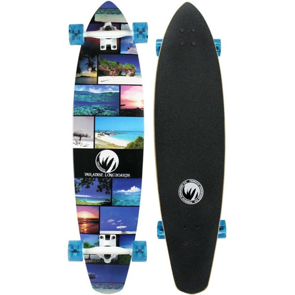 Paradise Complete Longboard Island Life Kicktail 40.25 x 9.5