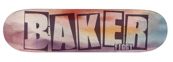 Baker Skateboard Deck Brand Name Watercolor JF 8.25