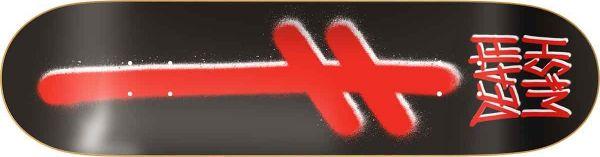 Deathwish Gang Logo BLK/RED Skateboard Deck 8.50