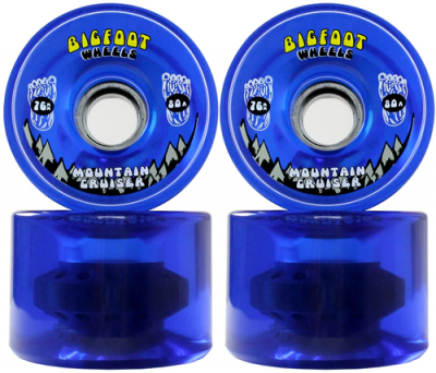 Bigfoot Mountain Cruiser Longboard Wheels Clear Blue 76mm 80a
