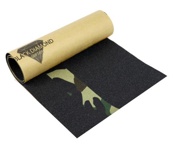 "BlackDiamond Skateboard Griptape ""Woodland camouflage"""
