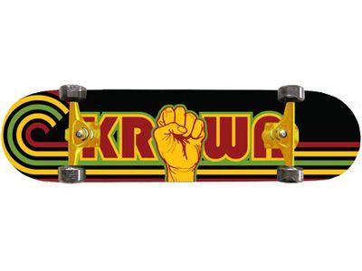 Krown Rasta Power Skateboard Complete 8.0