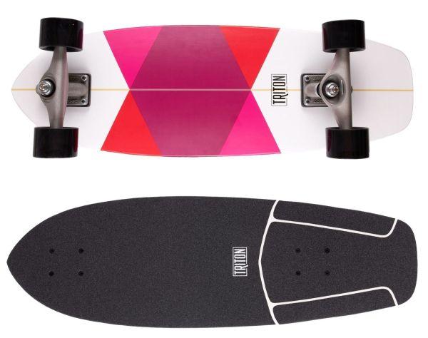 "Carver Skateboards Triton Red Diamond CX 29.0"""