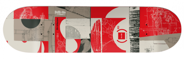 Chocolate Anderson Product Red Skateboard Deck 8.00