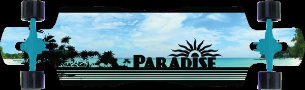 Paradise Complete Longboard DropThrough Black Ocean 41.0 x 10.25