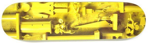 Girl Malto Paint it Black Skateboard Deck 8.125