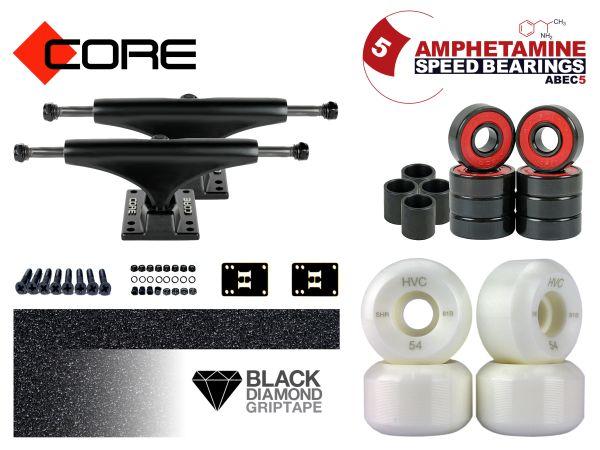 Skateboard Achsen Set-up Core black 5.5