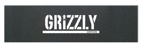 Grizzly Skateboard Griptape schwarz mit weißen Print
