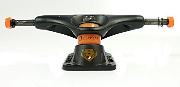 Tensor Trucks Skateboard Achse Slider Flat Schwarz 5.0