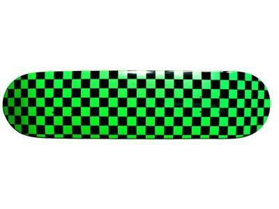 Moose Checkered Green Skateboard Deck