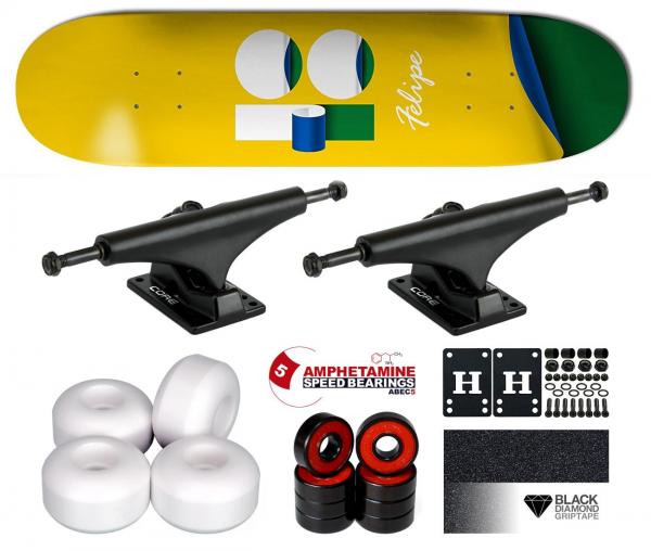 Plan B Felipe Wrap Komplett Skateboard 8.125