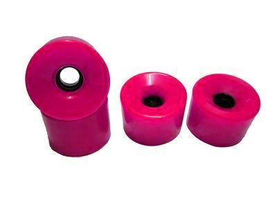 Blank Longboard Wheels Pink 70mm