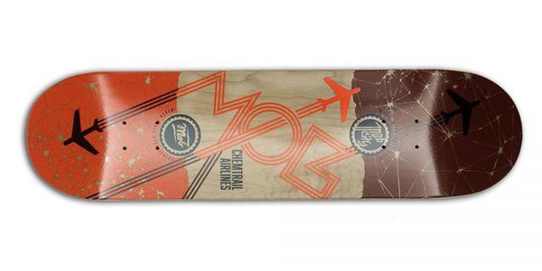 MOB Skateboards Airlines Deck - 8.25