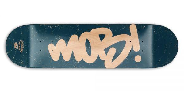 MOB Skateboards Tag Logo Deck - 8.125 ocean