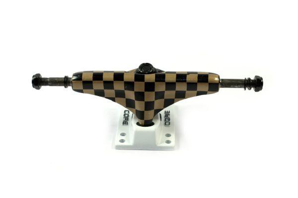 Core Trucks Skateboard Achse checkered gold/weiss 5.0