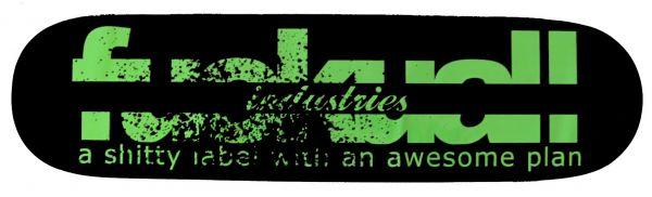 FUA Logo Green Skateboard Deck 7.62