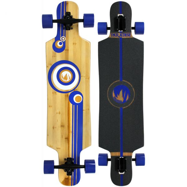 Paradise Bubbles Drop Through Bamboo Komplett Longboard