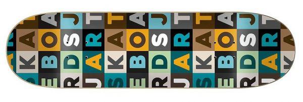 Jart Skateboard Deck Scrabble 8.12