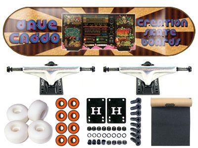 SALE Creation Dave Caddo Boom Box Komplett Skateboard 7.625
