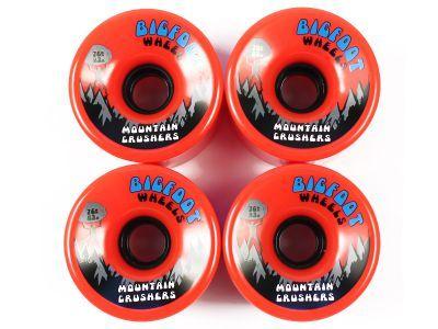 Bigfoot Mountain Crushers Longboard Wheels Orange 76mm 83a