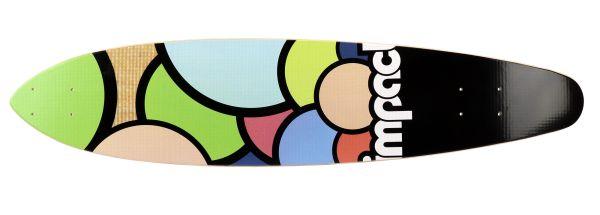 Impact Bubbles Fiber Flex Kicktail Longboard-Deck 38 x 8.5