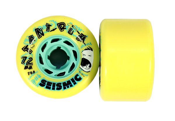 Seismic Tantrum Longboard Wheels 72mm 78A Yellow