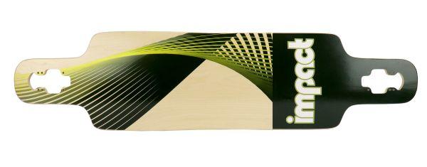 Impact Synthesis green Dropthrough Longboard-Deck 39 x 9.5