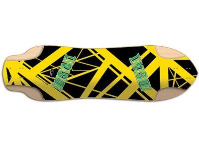 Invasion by JET Peanut Eddie V Longboard-Deck 34 x 9.5
