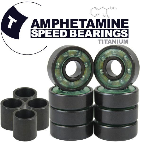 Amphetamine Bearings Skateboard Kugellager Titanium