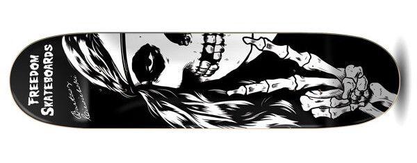 Freedom Ciesielski Crimson Hippie Skateboard Deck