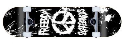 Freedom komplett Skateboard Peace Paint Black
