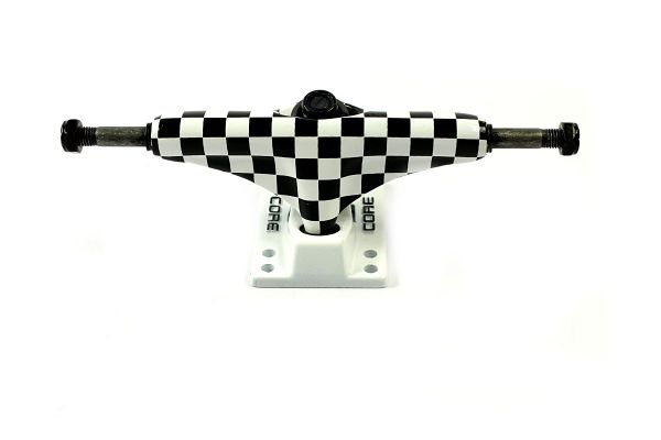 Core Trucks Skateboard Achse checkered/weiss 5.0