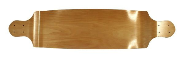 Blank Longboard Deck natural drop down 41.25 x 9.75