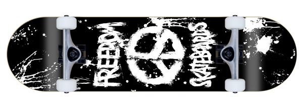 Freedom komplett Skateboard Peace Paint Black
