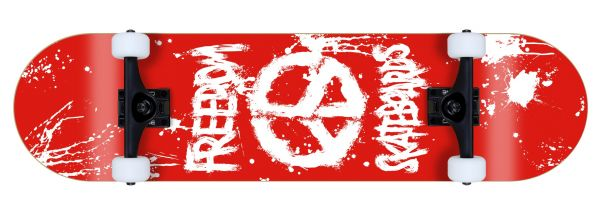 Freedom komplett Skateboard Peace Paint Red