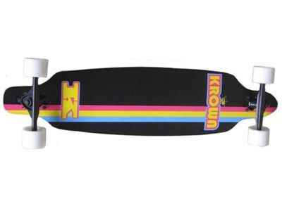 Krown - Elite Drop Through Black Longboard Complete 36 x 9