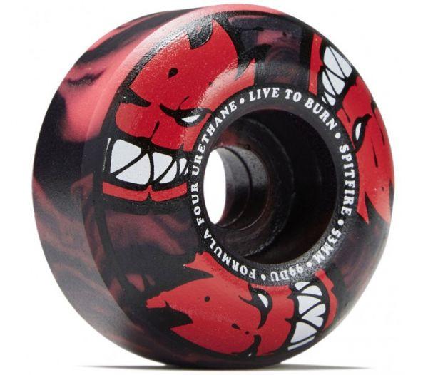 Spitfire Skateboard rollen F4 Afterburner conical red/black 101a 52mm