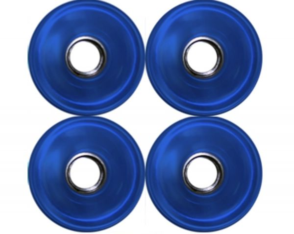 Blank Longboard Wheels Light Clear Blue 76mm