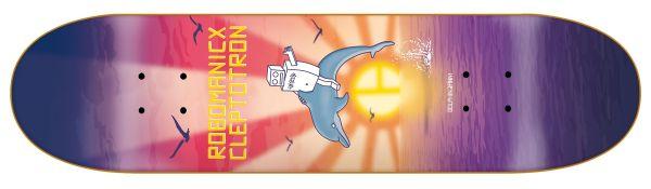 Robotron Robomanicx Cleptotron Dolphin Janni Skateboard Deck 8.00