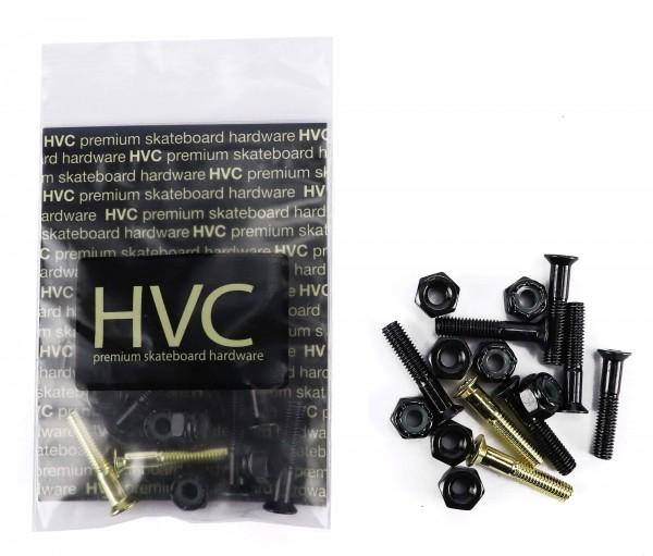 "HVC Hardware Set Kreuzschlitz 1"" schwarz / gold"