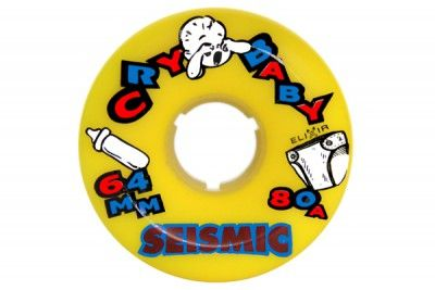Seismic Cry Baby Longboard Wheels 64mm 80A Yellow