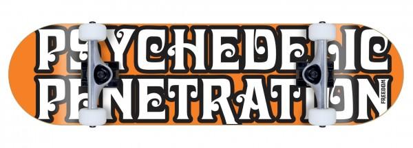 Freedom komplett Skateboard Psychedelic Penetration orange