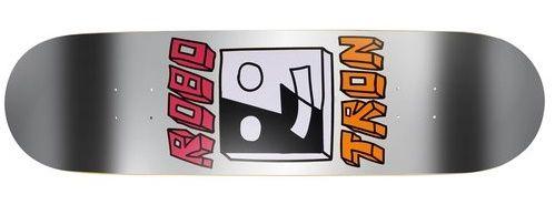 Robotron Split Face silver foil Skateboard Deck 8.00