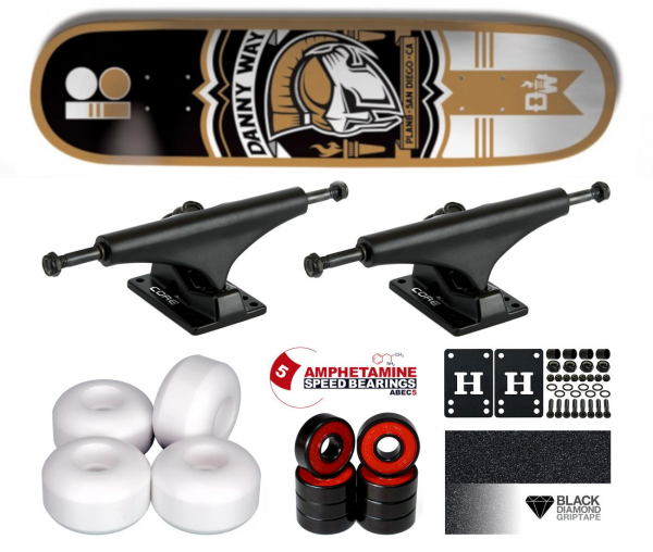 Plan B Way Crest Komplett Skateboard 8.125