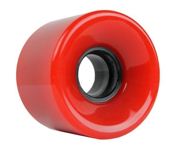Blank Longboard Wheels Red / Black Core 59mm 83a