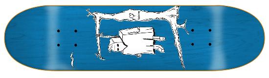 Robotron Hanging Klanstron Skateboard Deck 8.1