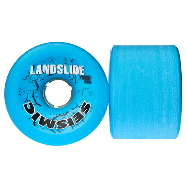 Seismic Landslide Longboard Wheels 75mm 83A Blue