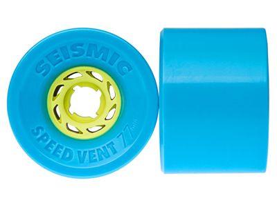 Seismic Speed Vent Longboard Wheels 77mm 80A Translucent Blue