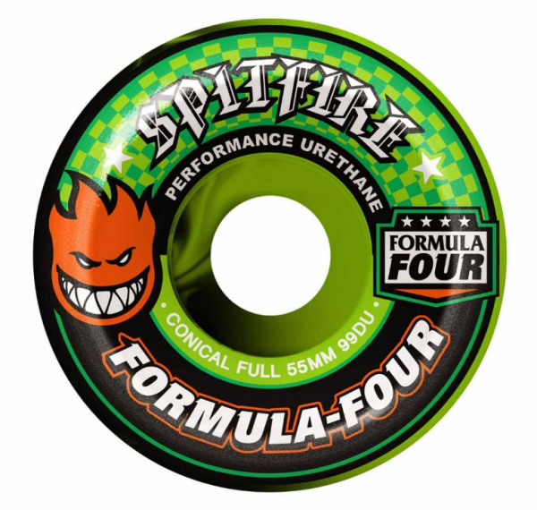 Spitfire Skateboard Rollen F4 Conical Full Color Up Swirl 99A 53mm