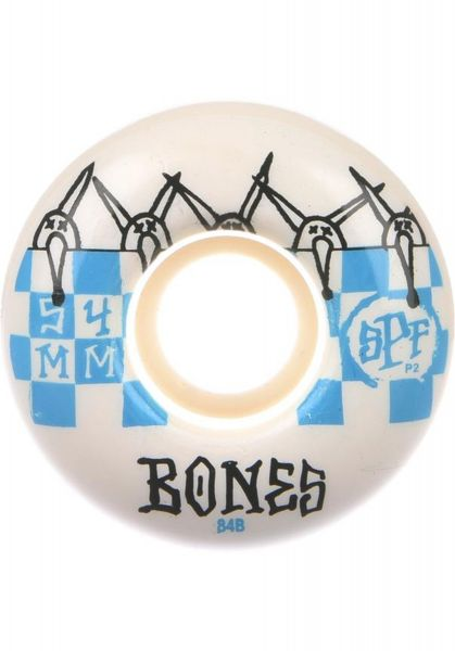 Bones Wheels Skateboard Rollen SPF Tiles P2 Blau 84B 54mm